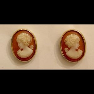 Vintage Napier Cameo Earrings